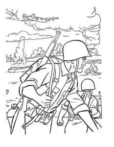 Военные солдаты картинки раскраски (3)