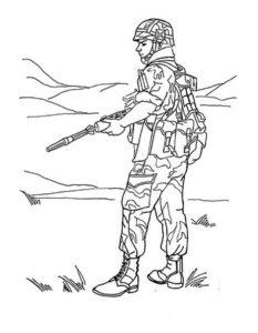 Военные солдаты картинки раскраски (4)