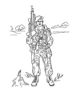 Военные солдаты картинки раскраски (5)
