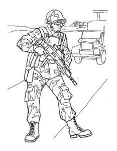 Военные солдаты картинки раскраски (6)
