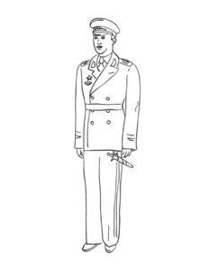 Военные солдаты картинки раскраски (8)
