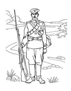 Военные солдаты картинки раскраски (9)
