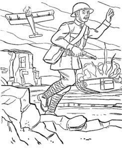 Война картинки раскраски (10)