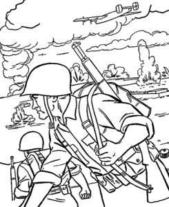 Война картинки раскраски (13)