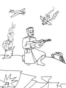 Война картинки раскраски (16)