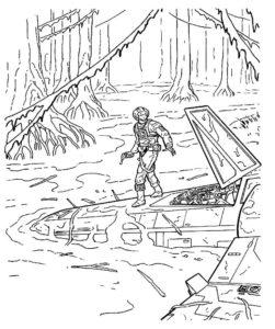 Война картинки раскраски (21)