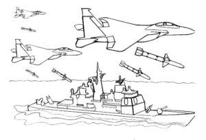 Война картинки раскраски (28)