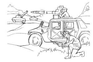 Война картинки раскраски (30)