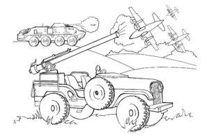 Война картинки раскраски (31)