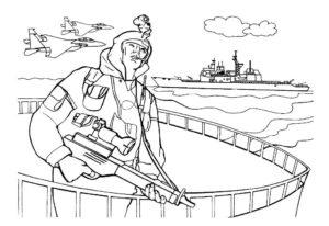 Война картинки раскраски (33)