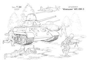 штурмовик ИЛ 2 М 3, раскраска