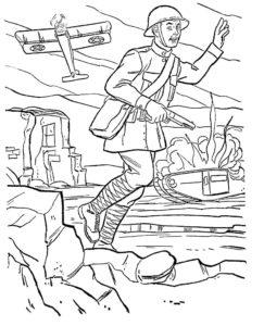 Война картинки раскраски (43)