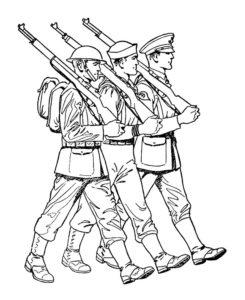 Война картинки раскраски (45)