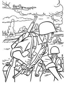 Война картинки раскраски (48)