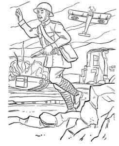 Война картинки раскраски (8)