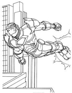 Железный человек картинки раскраски (1)