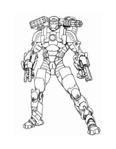Железный человек картинки раскраски (2)