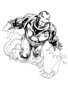 Железный человек картинки раскраски (3)