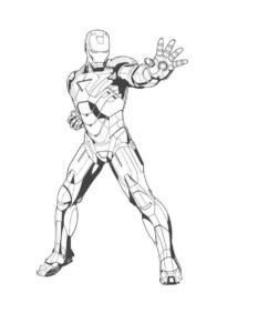 Железный человек картинки раскраски (4)