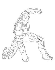Железный человек картинки раскраски (5)