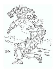 Железный человек картинки раскраски (6)