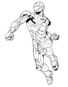Железный человек картинки раскраски (7)