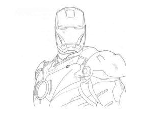 Железный человек картинки раскраски (8)