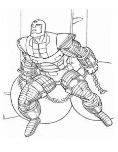 Железный человек картинки раскраски (9)