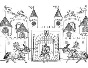 Замок картинки раскраски (1)