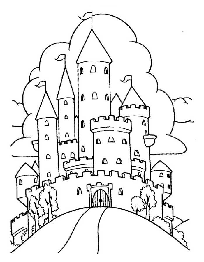 Замок картинки раскраски (11)