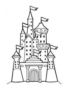 Замок картинки раскраски (12)