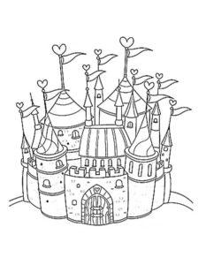 Замок картинки раскраски (13)