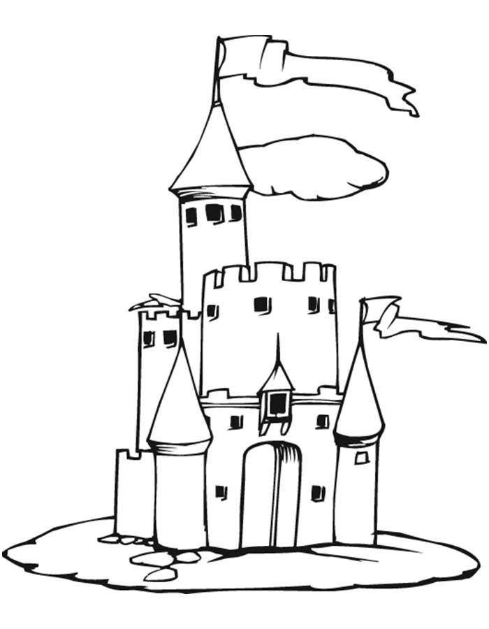 Замок картинки раскраски (14)