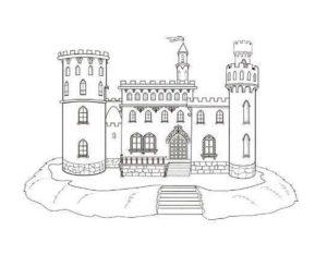 Замок картинки раскраски (17)