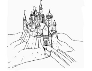 Замок картинки раскраски (19)