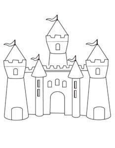 Замок картинки раскраски (2)