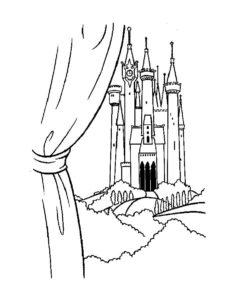 Замок картинки раскраски (20)