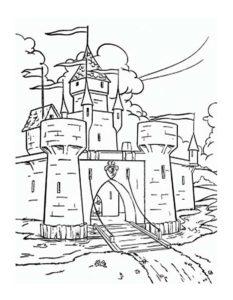 Замок картинки раскраски (21)