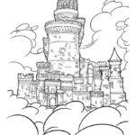 Замок картинки раскраски (24)
