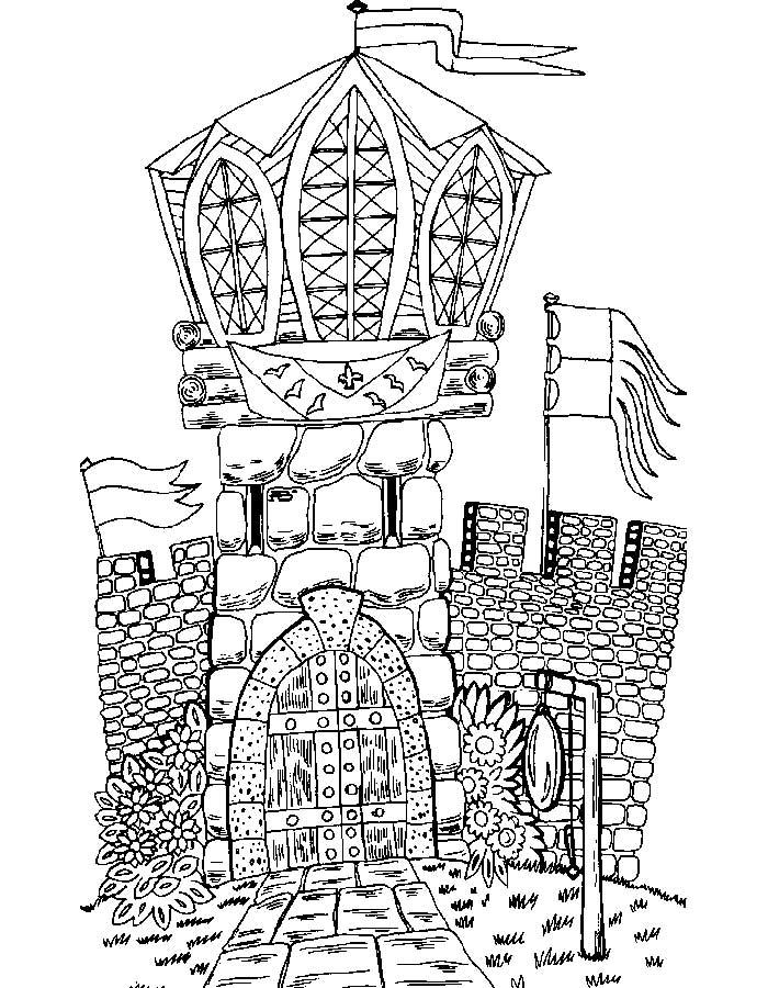 Замок картинки раскраски (25)