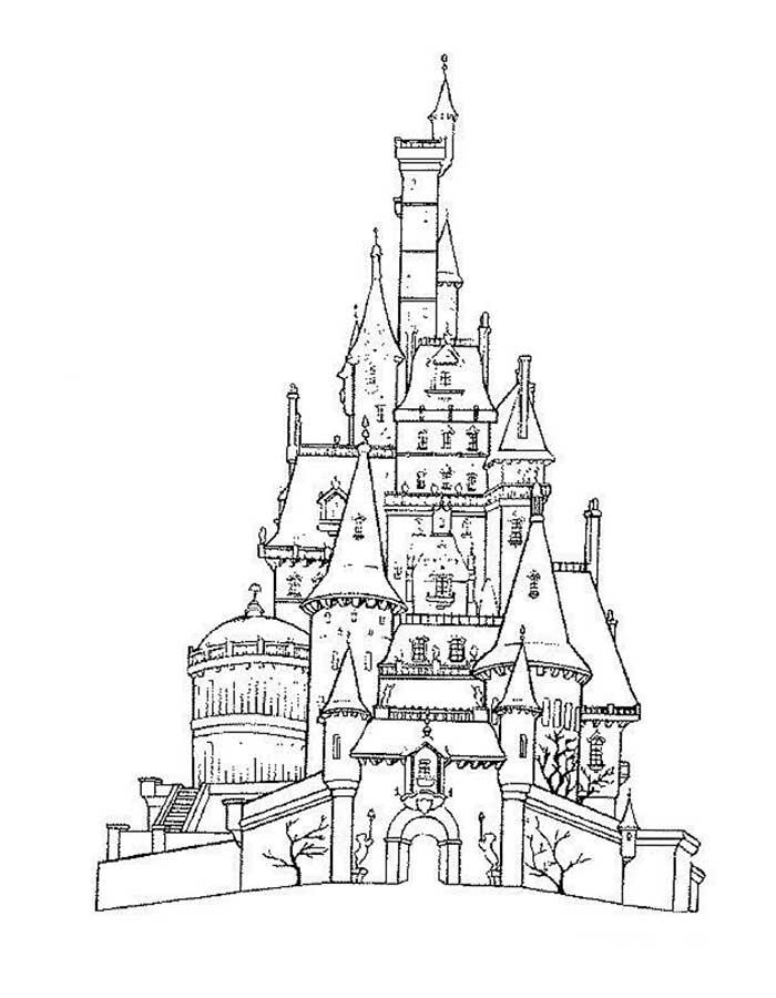 Замок картинки раскраски (26)