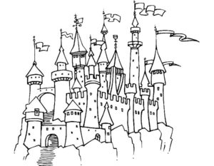 Замок картинки раскраски (27)