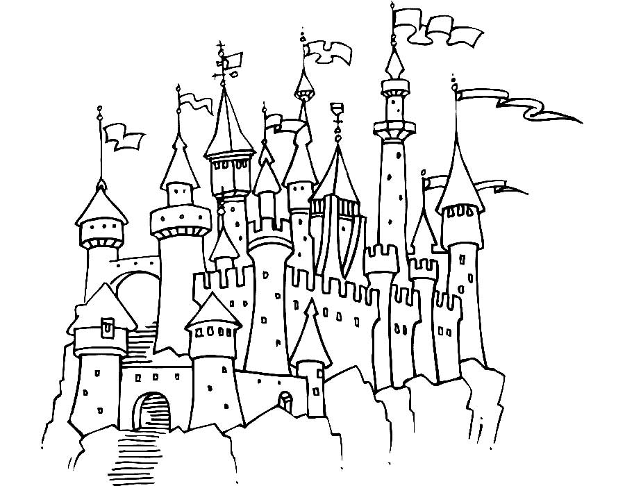 крепость черно белый рисунок перемещения плоскостей отражения