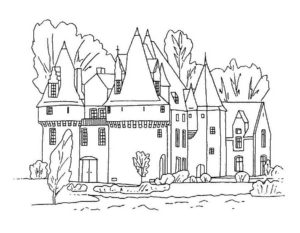 Замок картинки раскраски (3)