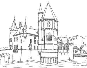 Замок картинки раскраски (4)