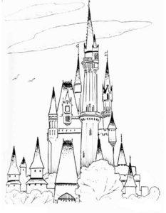 Замок картинки раскраски (5)