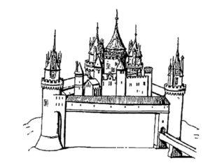 Замок картинки раскраски (6)