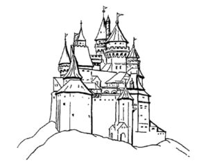 Замок картинки раскраски (7)
