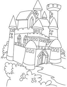 Замок картинки раскраски (8)