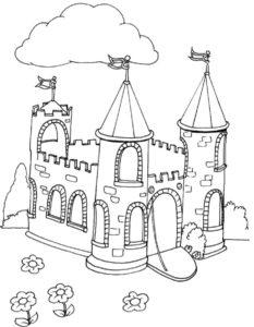 Замок картинки раскраски (9)